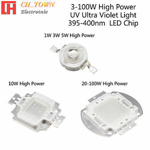 1pcs 3w 5w 10w 20w 30w 50w 100w Uv Violet 395 400nm High Power Led Chip Light