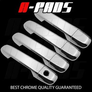 For Toyota Camry 2012 14 15 17 Chrome 4 Doors Handles Covers W Out Smart Keyhole