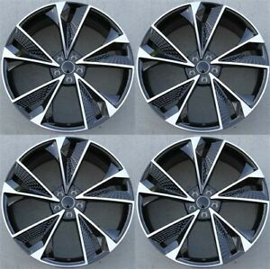 Set 4 20x9 Audi Replica A4 S4 A6 S6 Rs4 Rs5 Rs6 A5 S5 Wheels Machined Gunmetal