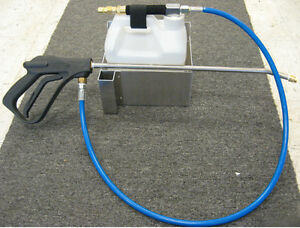 Carpet Cleaning In Line Injection Sprayer W stainless Steel Wall Mounted Holder