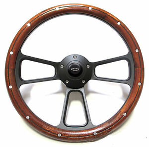 14 Beautiful Steering Wheel Kit W chevy Bowtie Horn For Chevy gmc Suburban