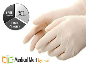 500 Latex Industrial Grade Disposable Gloves Size Xlarge powder Free 5 Boxes