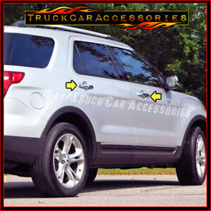 For Ford Explorer 2011 2014 2015 2016 2017 Chrome 4 Door Handle Covers W O S Pk