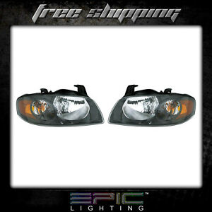 Fits 2004 06 Nissan Sentra Se R Spec V Headlights Headlamps Pair Left Right Set