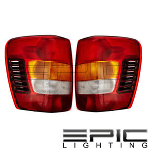 Rear Brake Tail Lights For 2002 2004 Jeep Grand Cherokee Left Right Sides Pair