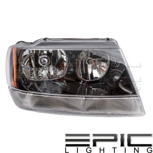 Fits 1999 04 Jeep Grand Cherokee Laredo Headlights Lamps Right Passenger Only