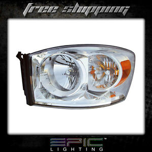 Fits 2007 09 Dodge Ram 1500 2500 3500 Headlights Headlamps Left Driver Only