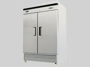 new Atosa Mbf8503 Upright Stainless 2 door Freezer Bottom Mount Warranty