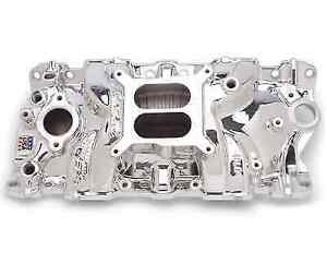Edelbrock 27014 Performer Eps Intake Manifold For Chevy 262 400 Small Block