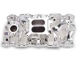 Edelbrock 27014 Performer Eps Intake Manifold For Chevy 262 400 Sma