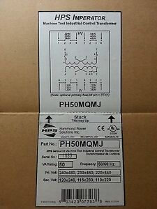 Hammond Power Ph50mqmj Step down Transformer 50va 1 Unit