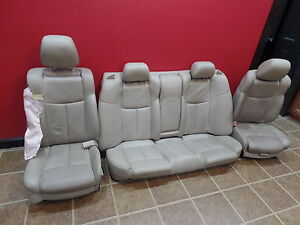12 Nissan Maxima Seats Tan Oem Street Rod Project Leather Set