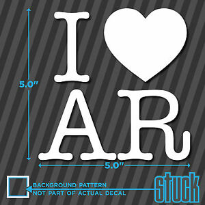 I Heart Ar Vinyl Decal Sticker State Arkansas Usa Love Pride America Bumper