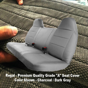 Automotive Grade F23 10mm Thick Triple Stitched Charcoal Bench Seat Cover