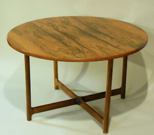 Mid Century Halvorsen Rasmus Solberg Norway Rosewood Cocktail Table Scandinavian