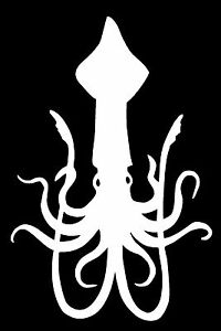 Squid Vinyl Decal Sticker Car Window Wall Bumper Fish Octopus Sea Monster Animal