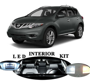 Led Package Interior License Plate Vanity Reverse For Nissan Murano 17pcs