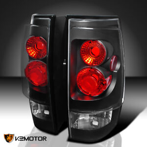 2007 2014 Chevy Tahoe Suburban Black Tail Lights Brake Lamps Pair Left right
