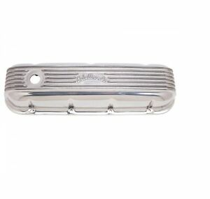 Edelbrock 4185 Classic Series Aluminum Valve Cover For 65 later Bb Chevy V8