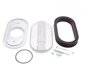 Edelbrock 41159 Classic Oval Small Cast Air Cleaner For Single 4 Barrel Carb