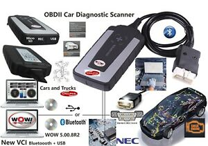 Diagnostic Grade Gold Pro Interface car Truck Scanner 2019 Wow Wurth bluetooth