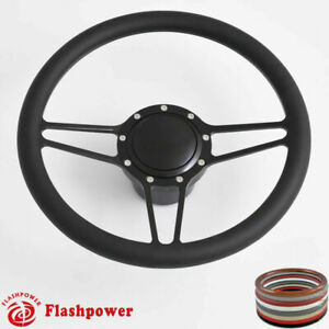 14 Billet Steering Wheels Black Street Rod Ford Gm Corvair Impala Chevy Ii
