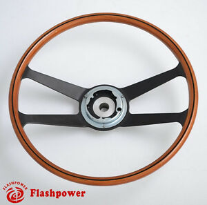 395mm Reproduction Vdm Wooden Steering Wheel Restoration Porsche 911 912 914