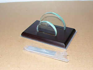 Thngs Remembered Walnut Desk Top Business Card Holder Gift W Free Metal Plaque