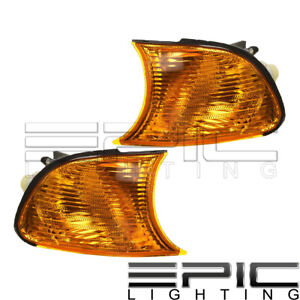 Amber Corner Signal Lights Left Right Pair For 2000 2001 Bmw 323ci 325ci 328ci