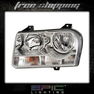 2005 2009 Chrysler 300 Non Projection Halogen Headlight Left Driver Side Lh