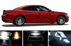 Xenon White Vanity Sun Visor Led Light Bulbs For Dodge Charger 4 Pcs