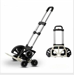 All terrain Stair Climbing Folding Cart For Moving Up To 180lb Push Hand Truck