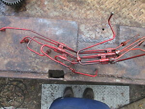 Ih International 1978 186 Hydro Farm Tractor Fuel Injector Lines Free Ship