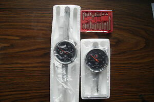 Black Face Brand New 0 1 0 2 Dial Indicator With 22pc Indicator Kit