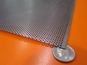 Perforated Staggered Steel Sheet 036 Thick X 24 X 24 062 Hole Dia 41