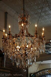 French Crystal Chandelier 15 Lights 5 Ft Tall Must See