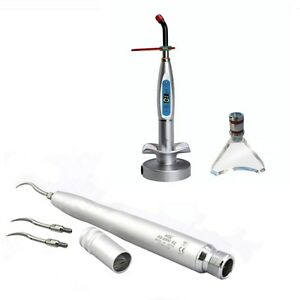 Dental Air Scaler Handpiece 2 Holes Nsk Style Led Curing Light Whitening Tip