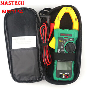 Mastech Ms2115a Digital Clamp Multimeter Ac Dc Voltmeter Ammeter Ohm Herz Tester