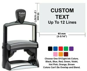 Trodat Professional 5211 Self Inking Stamp Custom Text Up To 12 Lines bigger Sta