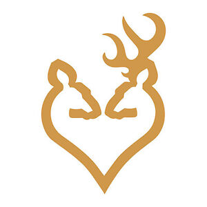 Browning Arms Deer Heart Logo 5 Vinyl Decal Sticker Firearm Guns Rifles Pistols