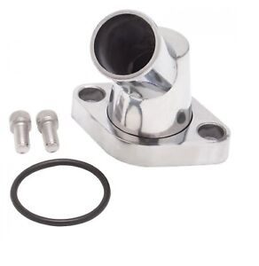 Edelbrock 4817 Polished Thermostat Housing W 45 Swivel For Small Block Chevy