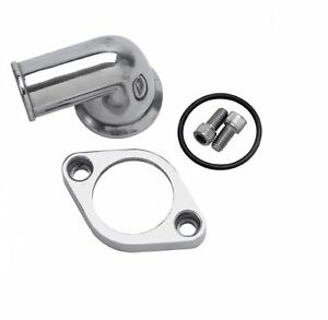 Edelbrock 4818 Polished Thermostat Housing W 90 Swivel For Small Block Chevy