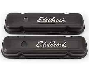 Edelbrock 4453 Signature Series Valve Covers 3 Tall For 301 455 Pontiac V8