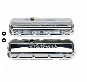 Edelbrock 4480 Signature Series Valve Covers For 395 502 Bb Chevy V8