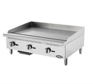 new Atosa Atmg 36 Hd 36 Commercial Griddle Gas Plancha Flat Top Warranty