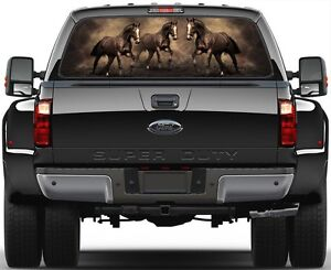 Horse Horses Rear Window Graphic Decal For Truck