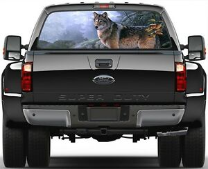 Wolf Version 1 Rear Window Graphic Decal Truck Suv Van Car