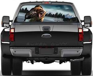 Grizzly Window Graphic Decal Sticker Truck Suv Van Car