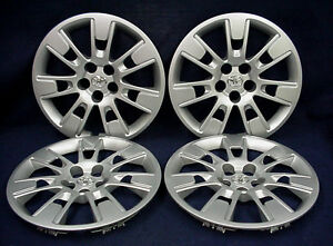 Toyota Corolla 14 16 16 14 Spoke Silver Wheel Covers Hubcaps Set Of 4 Oem