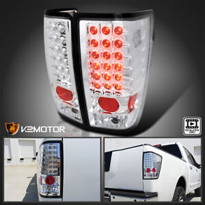 For 2004 2015 Nissan Titan Clear Led Brake Lamps Tail Lights Left right 04 15